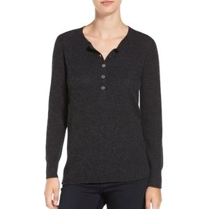 James Perse Thermal Henley Cashmere Sweater 1